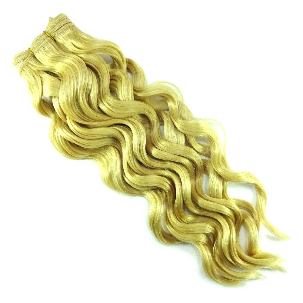 14 16 Sleek Spanish Wave 100 Human Weaving Hair 613 Platinum