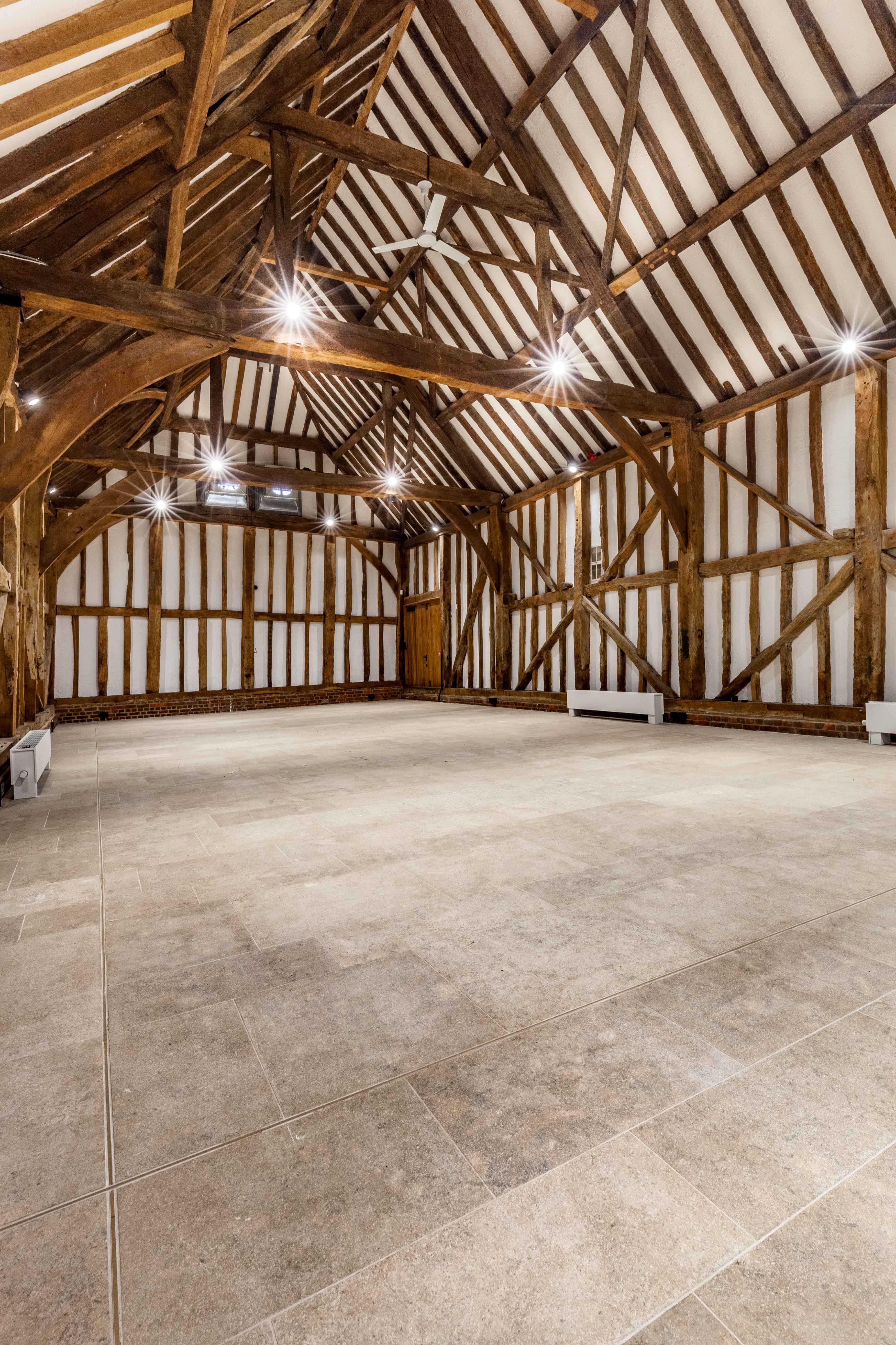 A Beautiful Wedding And Event Venue At Headstone Manor The Barn Features Natural Stone Floor