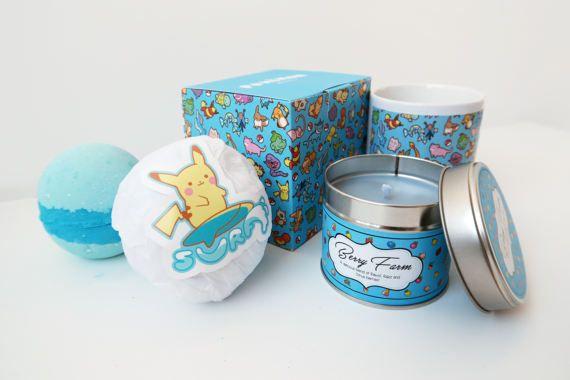 NUEVO Set de regalo de Surf  Pokemon  taza y caja por BluePotionUK