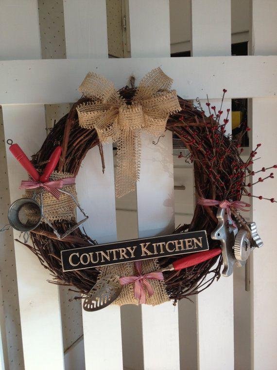 Antique Kitchen Utensil Wreath 49 95 Via Etsy