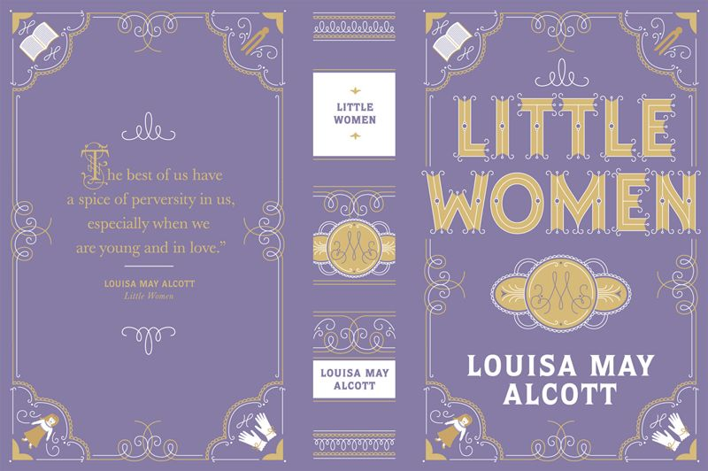 Classic Book Cover Jobs : Jessica hische little women book cover from barnes