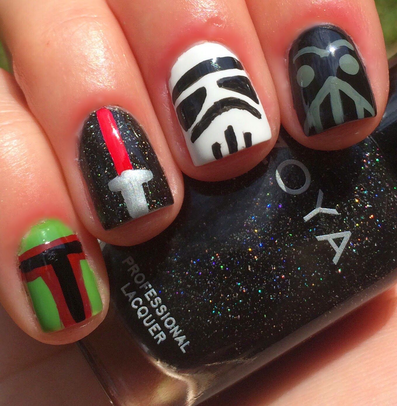 The Force Awakens With These Incredible Pieces of Star Wars Nail Art. - Top 10 Star Wars Nail Art Designs And Ideas Nail Fun