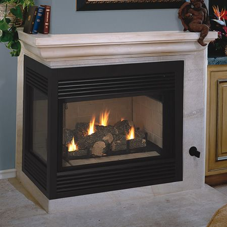 Vantage Hearth Direct Vent Left Sided Corner Fireplace