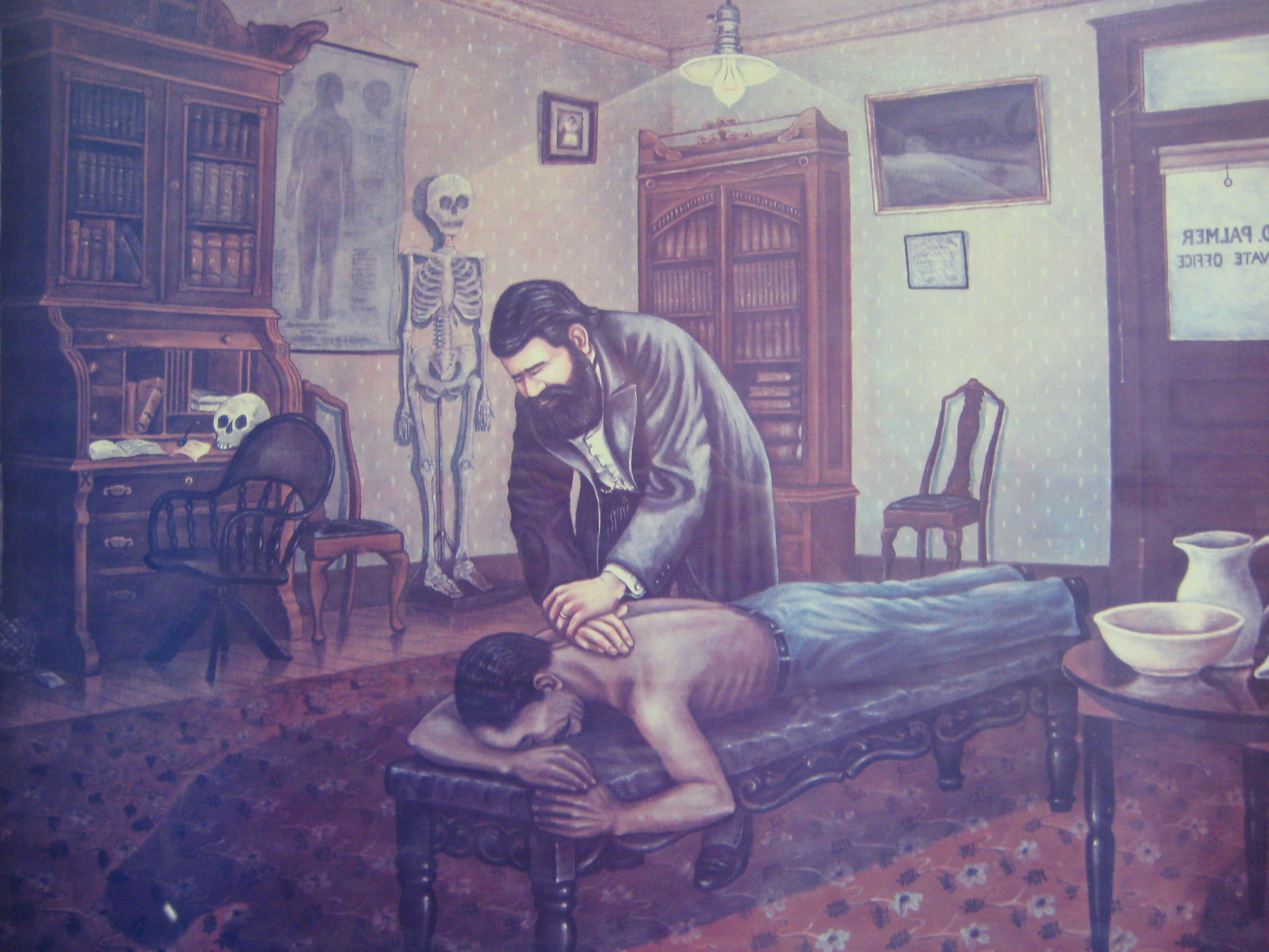chiropractic adjustment The first chiropractic