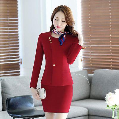 Women Vest Suit Flight Attendant Waistcoat Work Uniform Button Outerwear Tops