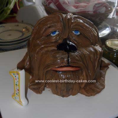 coolest chewbacca 1st birthday cake design birthday cake design