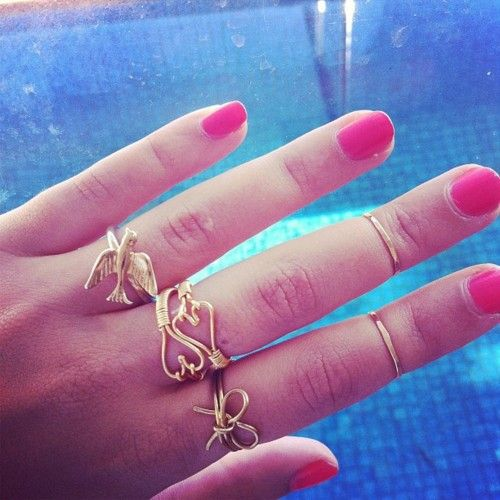wire rings.