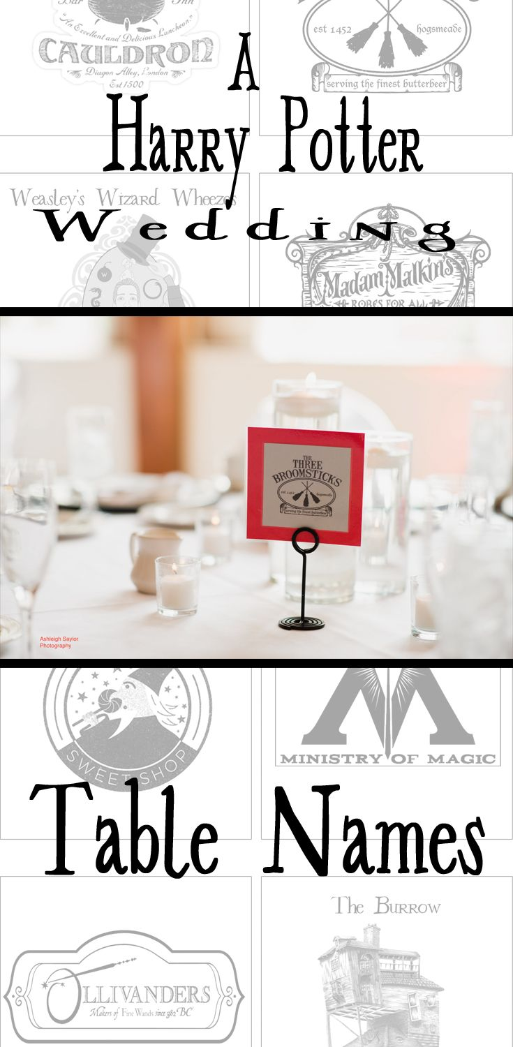 Wedding Details: Harry Potter Wedding Table Names. To give your ...