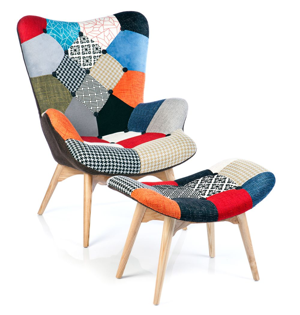 Fauteuil Featherston Patchwork Chairs - Poltrona Design Patchwork