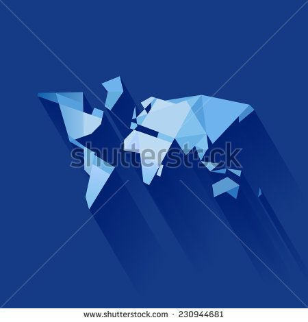 Image result for vector origami world map moodboard xtrapolate image result for vector origami world map gumiabroncs Choice Image