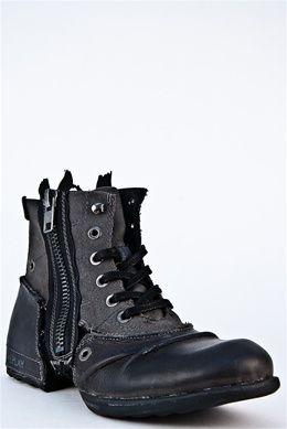 Clutch Footwear Flat Black Replay At Boot Dna fgYb76y