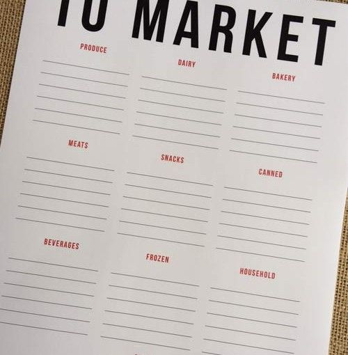 Free Shopping List Template Grocery List Template Designcorral #grocerylist .