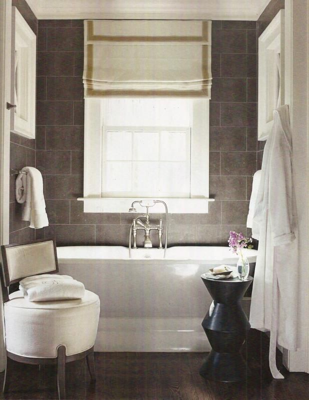 Pin By The Anatomy Of Design On Outside Mount Roman Shades Bathroom Inspiration Rustic Room Home