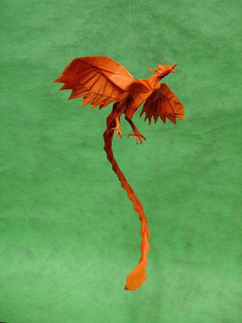 Origami Phoenix By Artist Galen On Deviantart I Video Diagram Quotswan Quyetquot