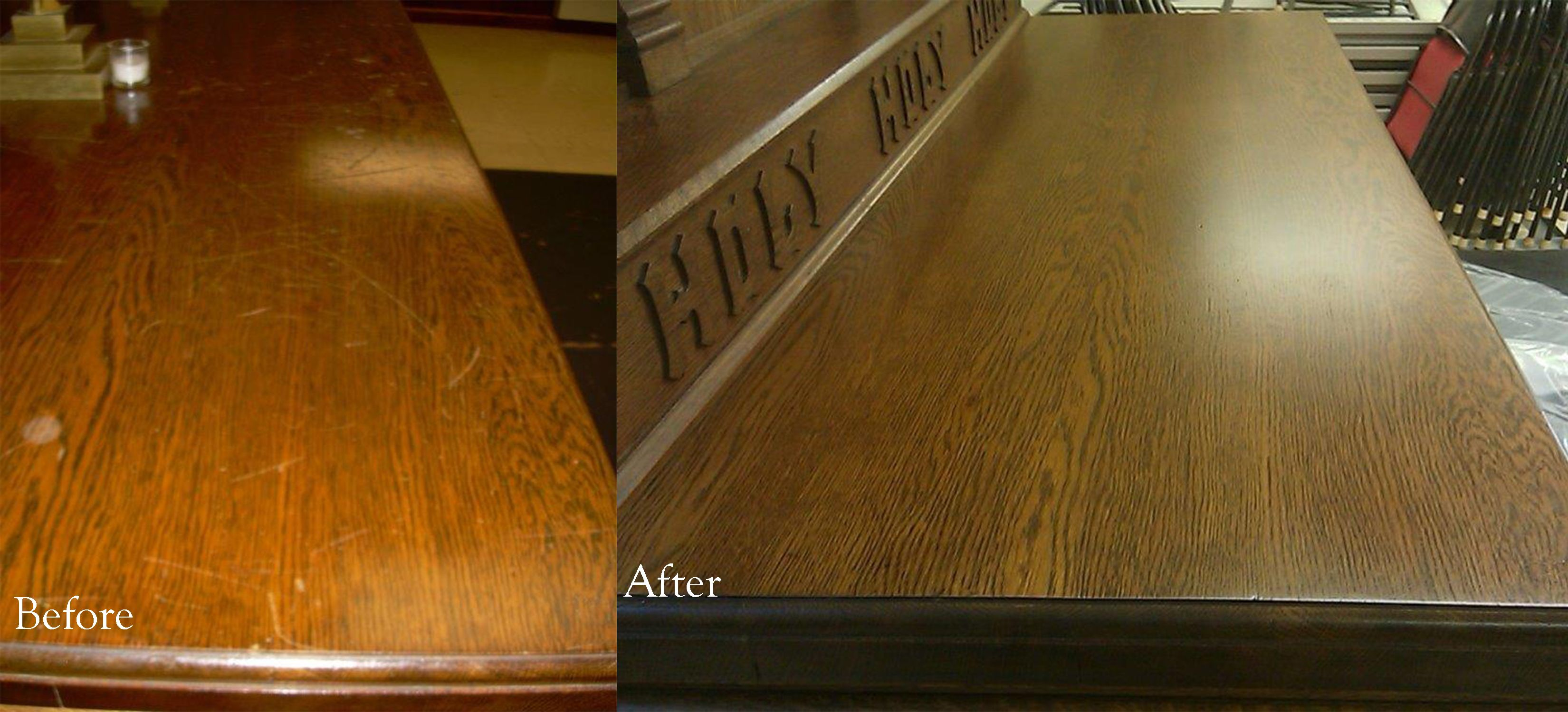 Before And After Photos From The Good Shepherd In Pearl River, NY. Work  Performed