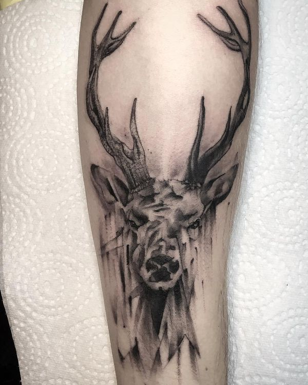 deer tattoos designs meaning and symbolism stag tattoo tattoo and deer tattoo. Black Bedroom Furniture Sets. Home Design Ideas