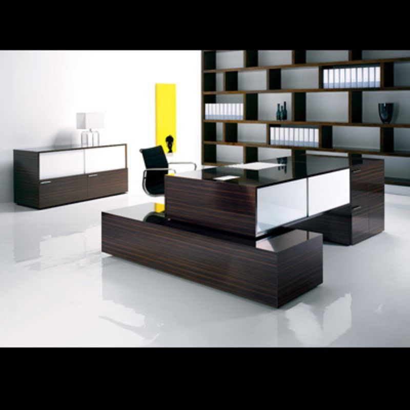 luxurious mars italian modern office desk with features wood bark