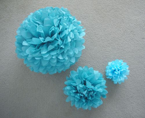 A Formula For Tissue Paper Poms Large Medium And Small Paper