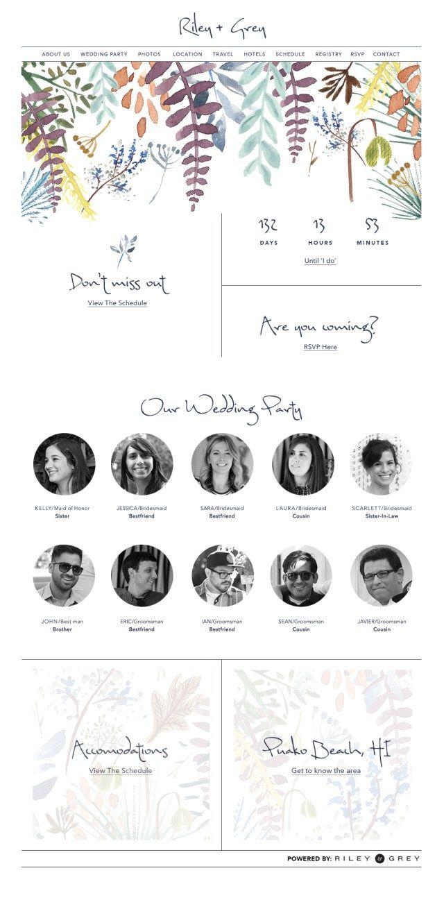 14 New Wedding Website Design Examples By Riley Grey Websites Boho