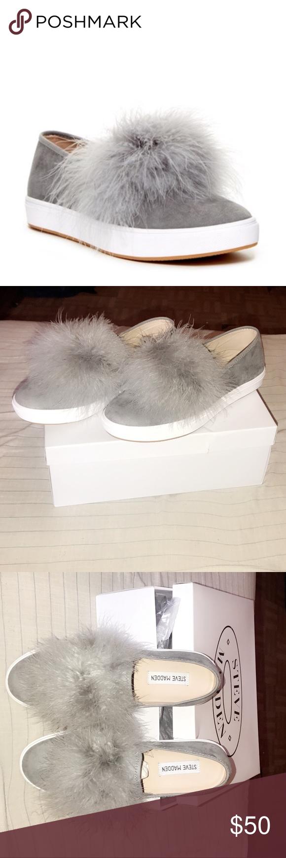 3cefaf03712 Steve Madden Emily Faux Fur Slip-On Sneaker BRAND NEW, never worn ...