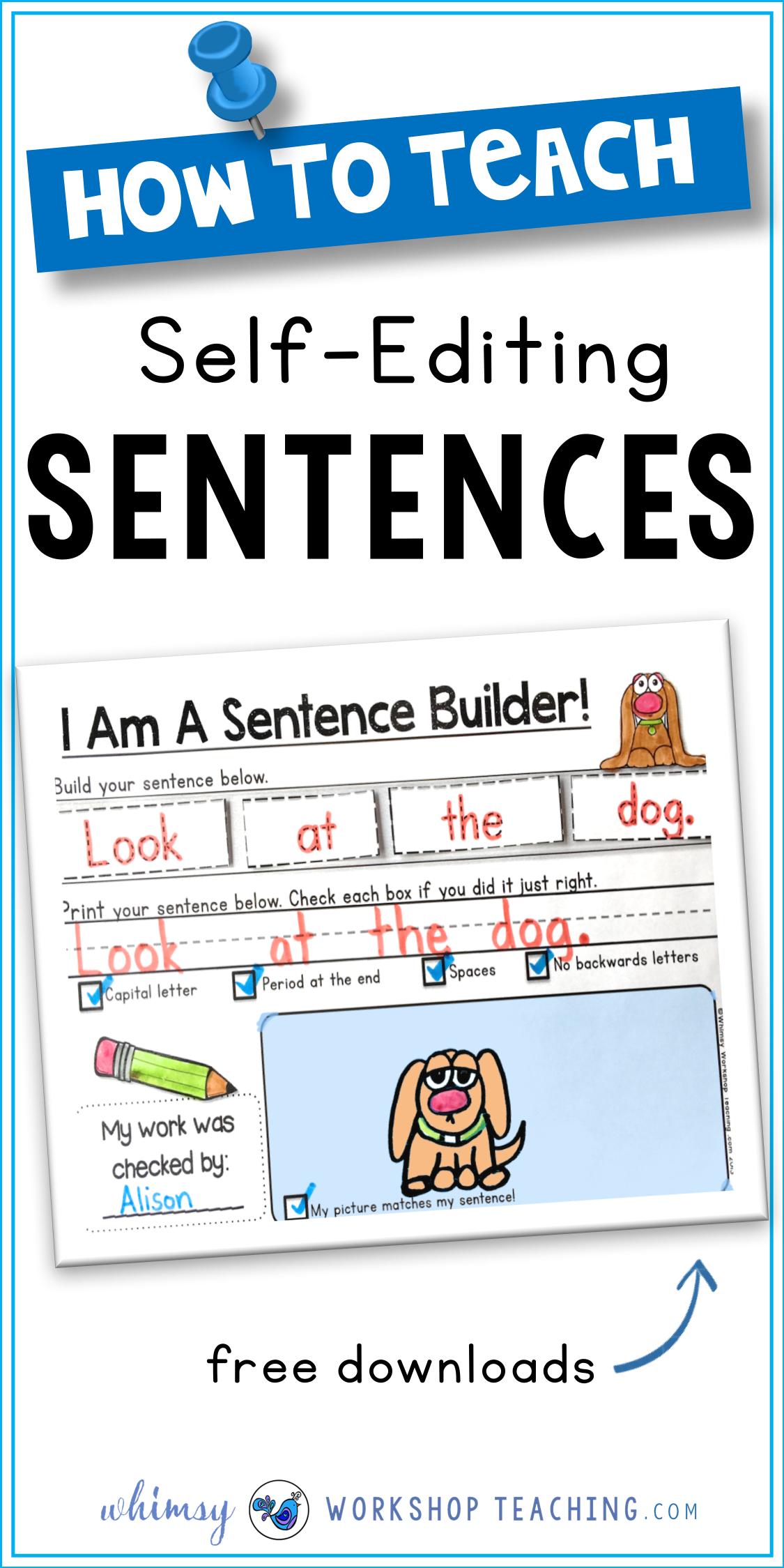Sentences Building And Self Editing