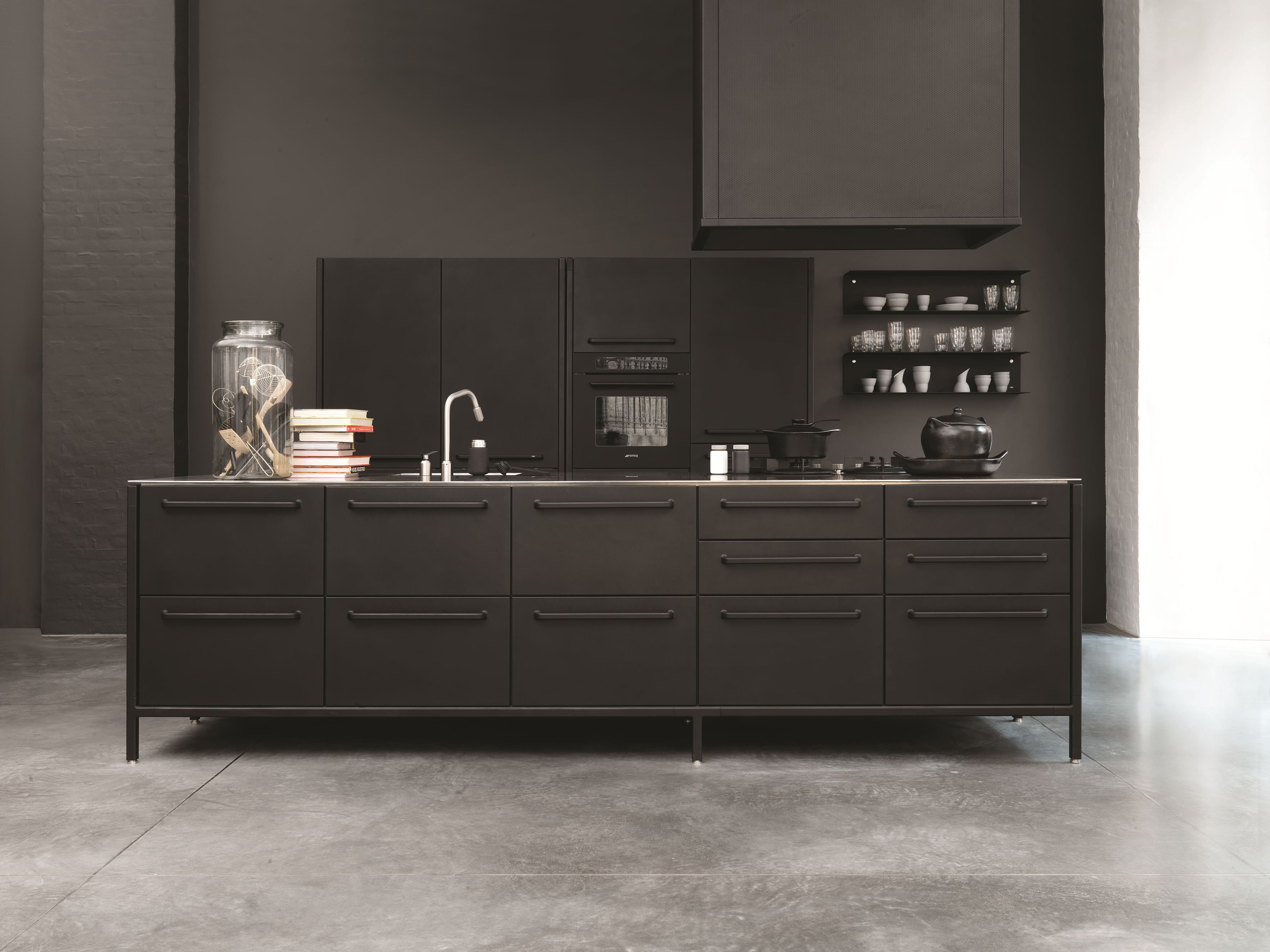 Awesome Stainless Steel #kitchen With Handles VIPP ISLAND MODULE By Vipp #black  #design Good Looking