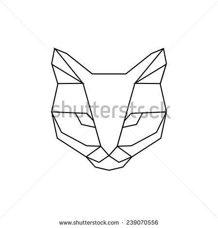 inspiration illustrated geometric puma geometric animal masking tape dessin origami. Black Bedroom Furniture Sets. Home Design Ideas
