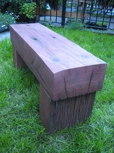 Sleeper bench, love it! When dad retires Pinterest Bancos - jardines con bancas