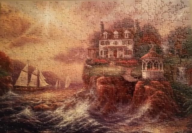 Above The Fray by artist Chuck Pinson. 500 pieces by Prism Jigsaw Puzzles, 2007.