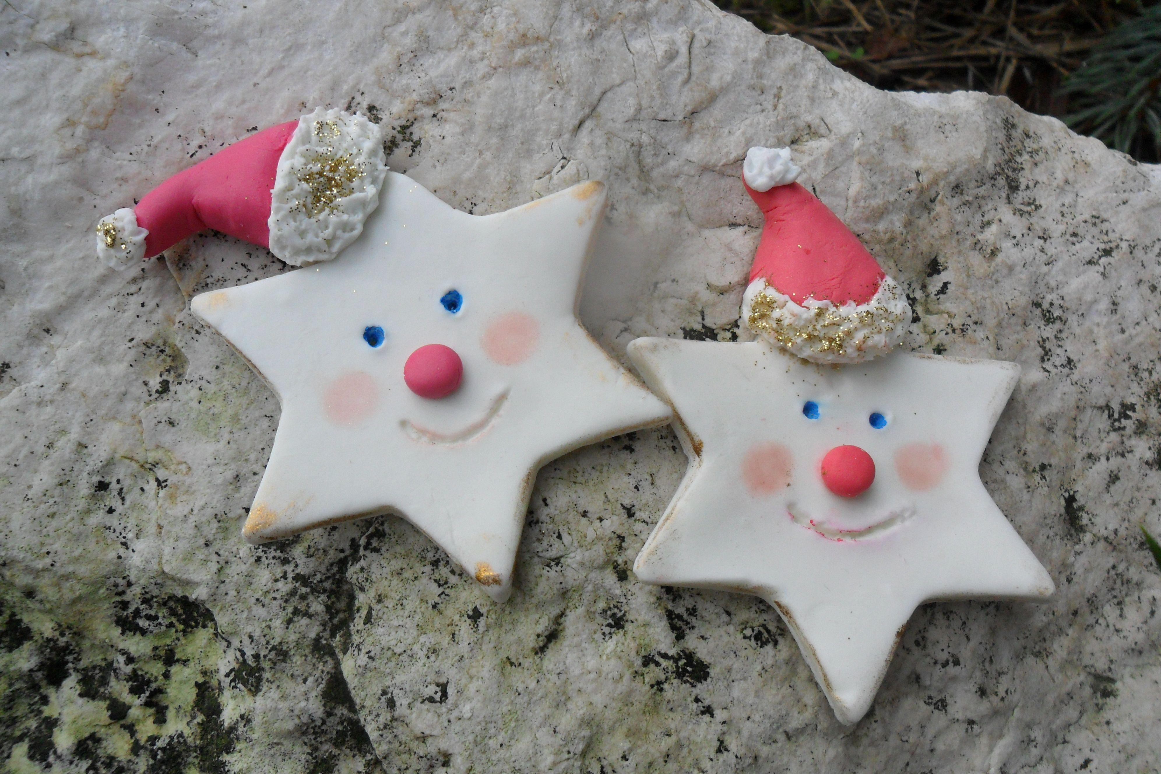 Lavoretti Di Natale Con La Pasta Di Mais.Stelline Babbo Natale Pasta Di Mais Natale Pasta