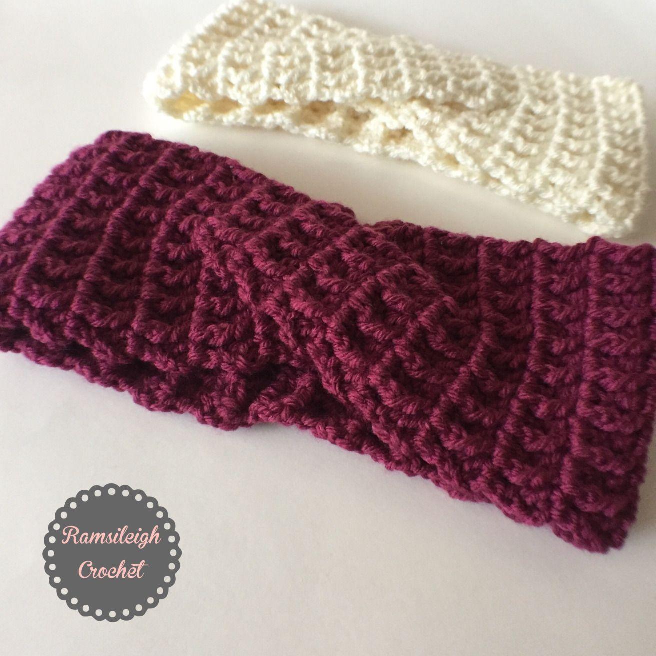 Twisted Headband Free Pattern A Crochet Pinterest Twist