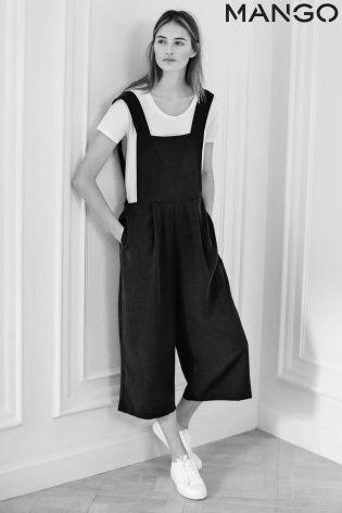 475416d36cd Black Mango Wide Leg Culotte Dungaree