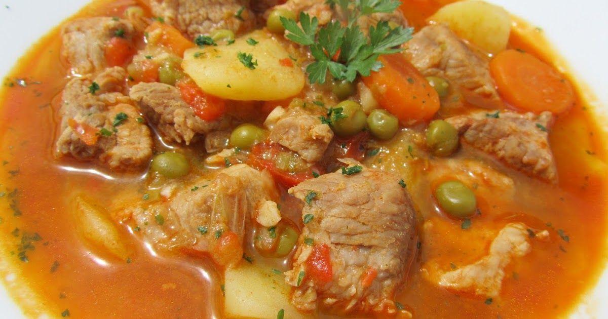 Un Guiso De Carne Y Verduras Sencillo Economico Y Ligero Estofado De Cerdo Con Verduras Con Thermomix Cerdo Con Verduras Estofado De Cerdo Guiso De Carne