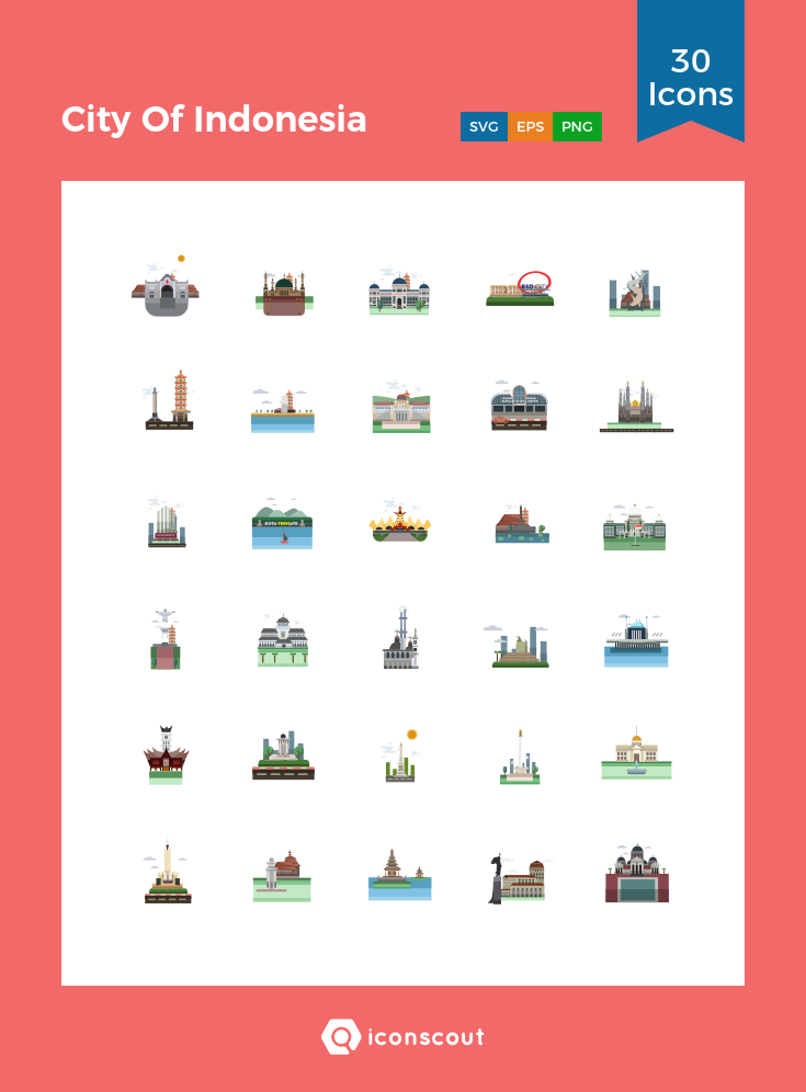 Download City Of Indonesia Icon Pack Available In Svg Png Eps Ai Icon Fonts City Icon Icon Pack Icon