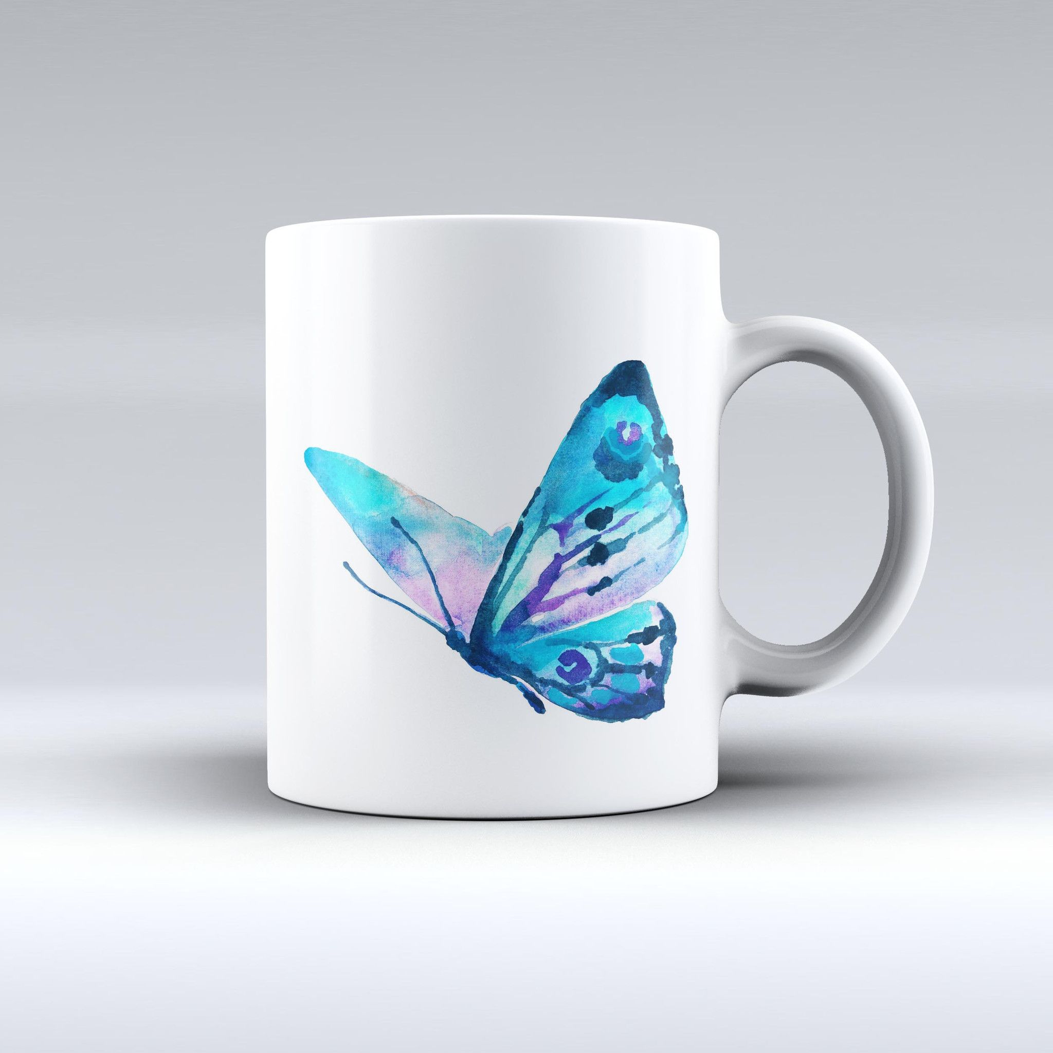 The Bright Graceful Butterfly ink-Fuzed Ceramic Coffee Mug from DesignSkinz