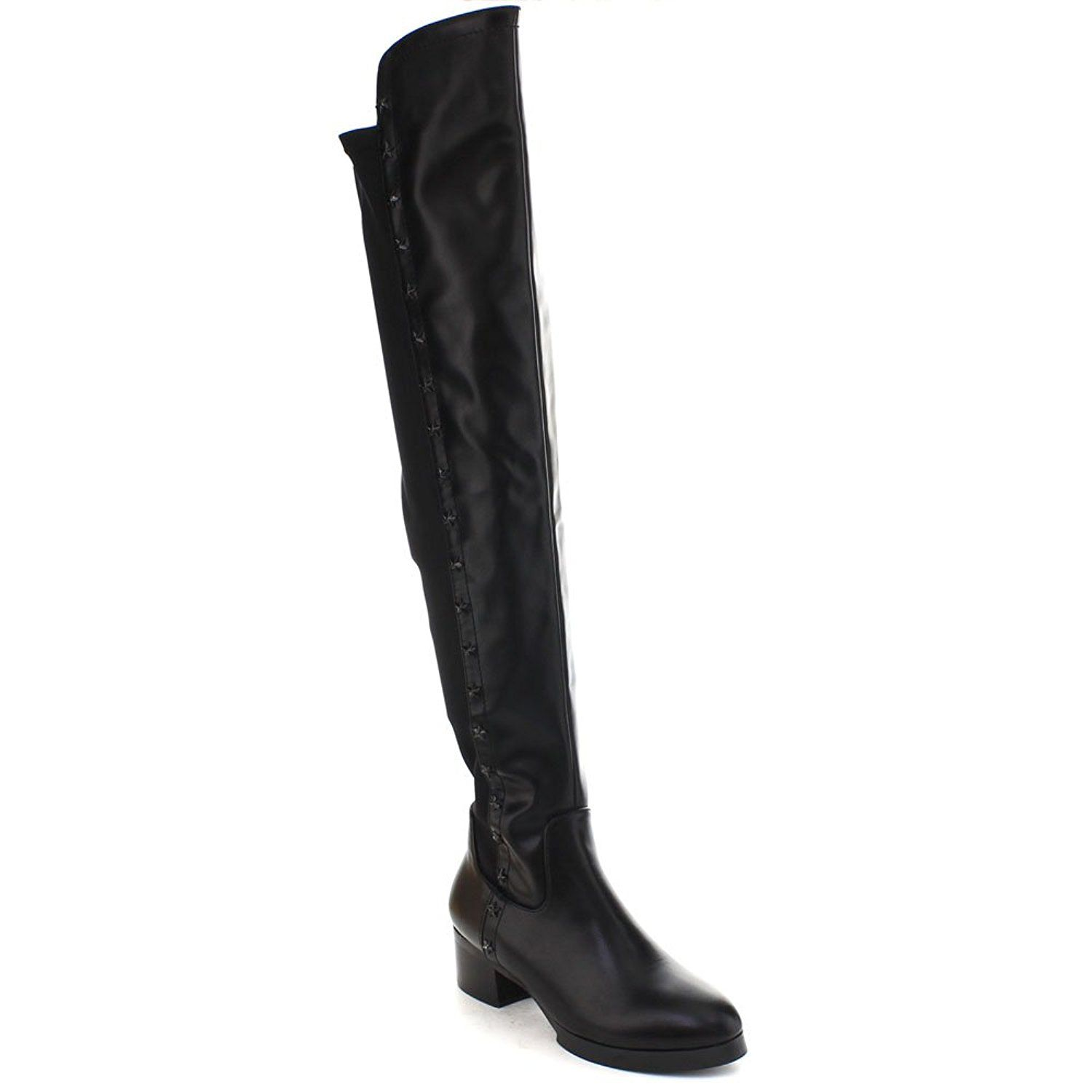 DBDK DEMY-2 Women's Star Side Zip 5050 Chunky Heel Over Knee High Riding Boots -- Be sure to check out this awesome product. (Amazon affiliate link)