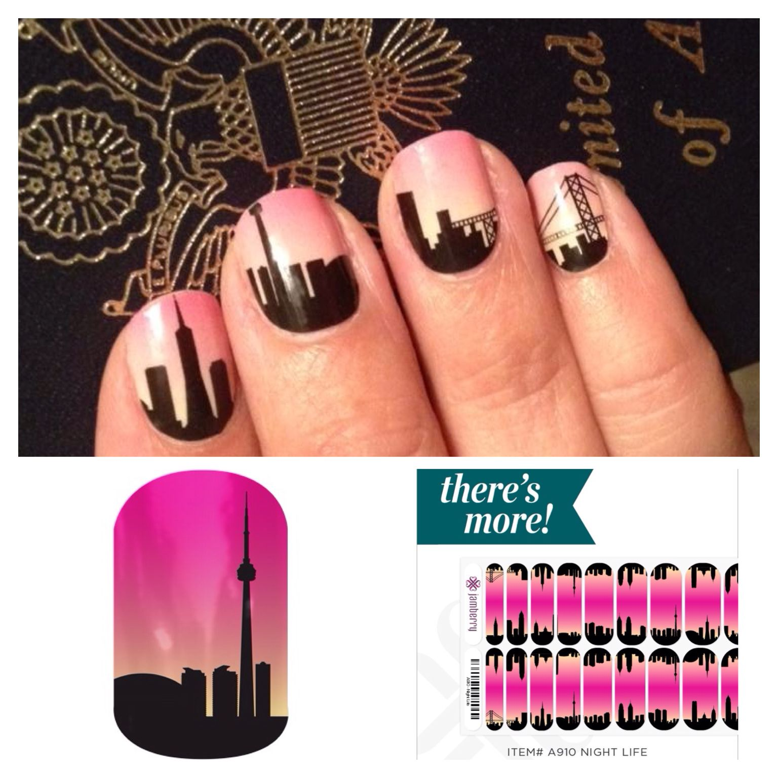 Night Life by Jamberry Nail Warps. Non-toxic, easy to apply, and NO ...