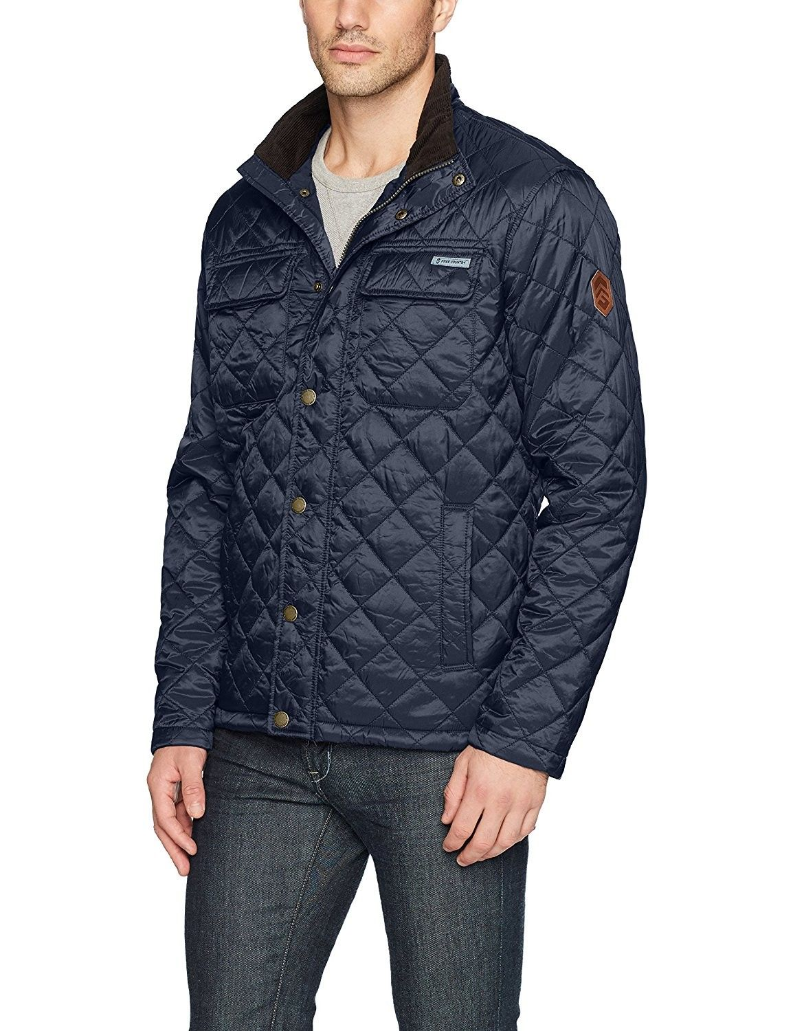 Men S Diamond Quilted Jacket With Corduroy Collar Dark Navy Cq186n8hc7e Men S Coats And Jackets Mens Fashion Country Mens Clothing Styles [ 1500 x 1154 Pixel ]