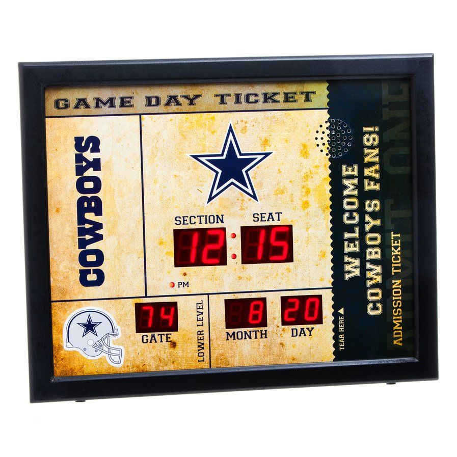 NFL Bluetooth Scoreboard Wall Clock | decoracion | Pinterest | Wall ...