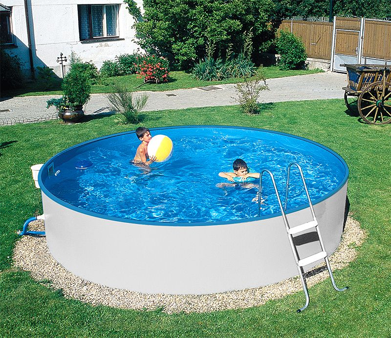 Pool stahlwand trendy grande pool oval with pool for Schwimmbad mit stahlwand