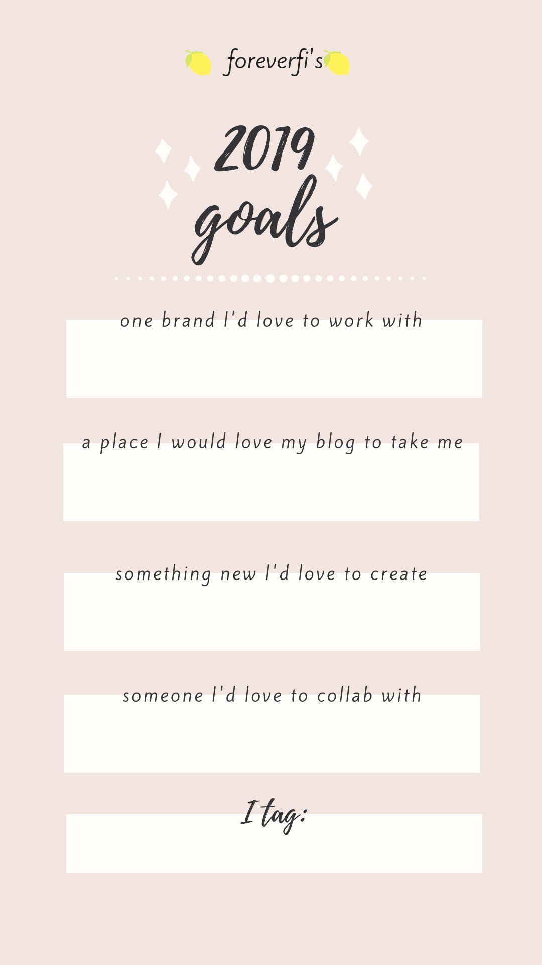 2019 Goals Instagram Story Template Storytemp Instagramstory
