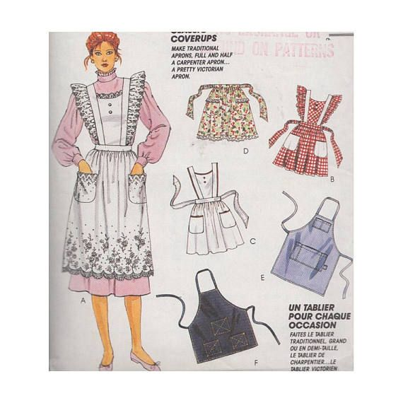 Apron Collection Vintage 90s UNCUT McCalls Craft Sewing Pattern 5174 ...