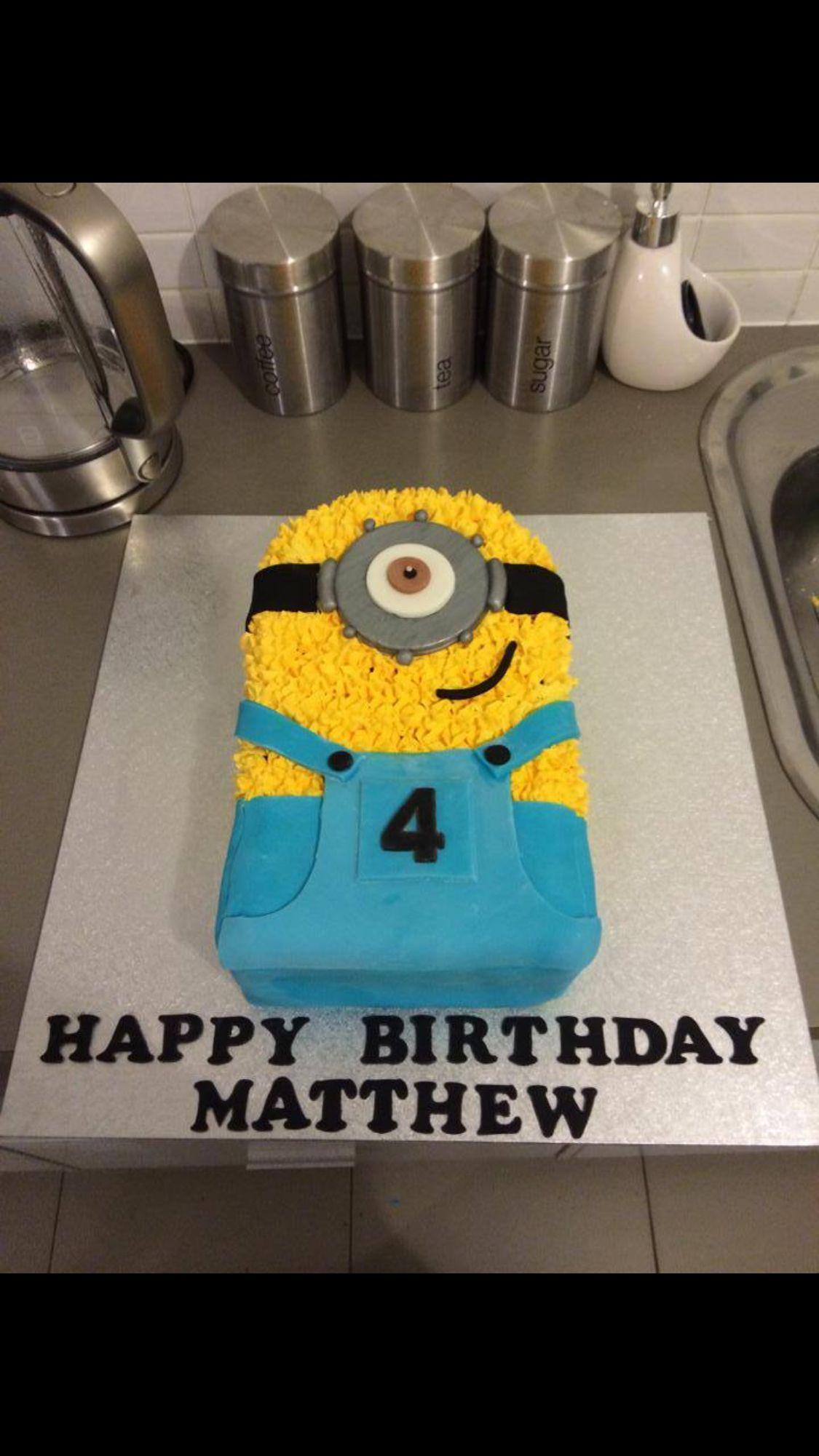 Astounding Minion Birthday Cake Minion Birthday Cake Cupcake Birthday Cake Funny Birthday Cards Online Unhofree Goldxyz