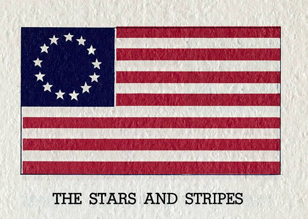 The original stars stripes ca 1777 with 13 stripes and 13 stars 1777 with 13 stripes and 13 stars the american flag from an undated illustration publicscrutiny Choice Image