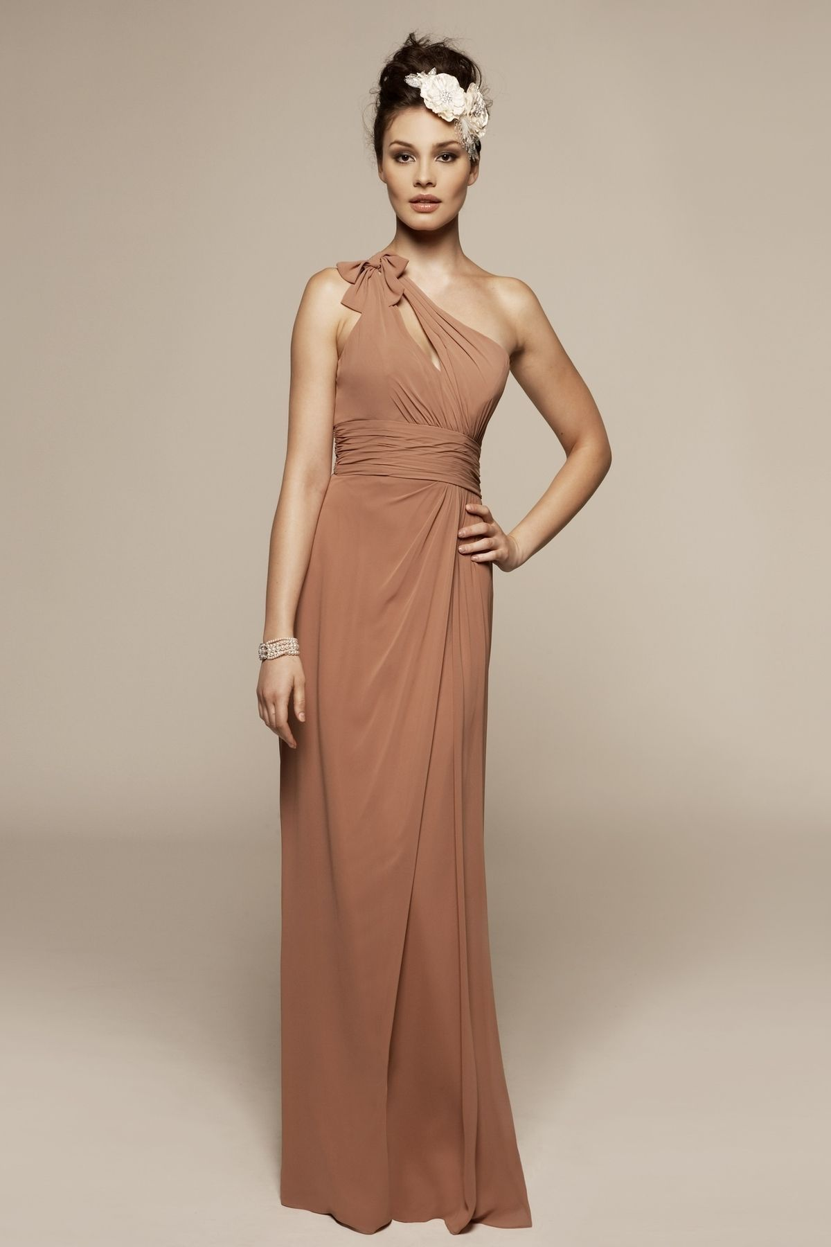 One shoulder aline fashionable dress for women longdress