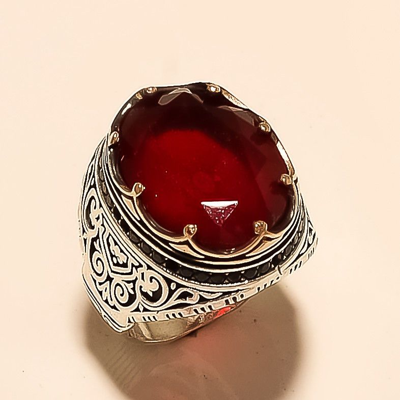 .925 Sterling Silver paix signe Ring