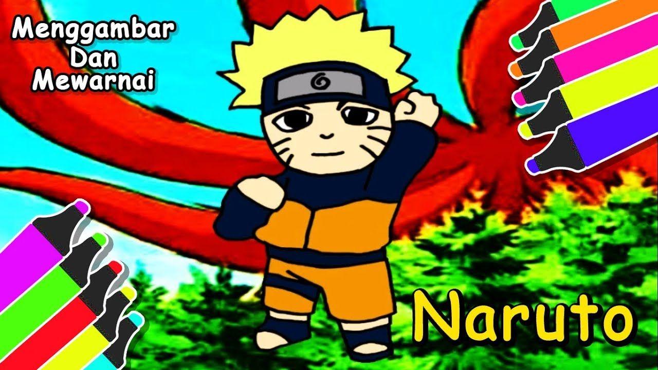 Pahlawan Desa Konoha Naruto Cara Gambar & Mewarnai Kartun