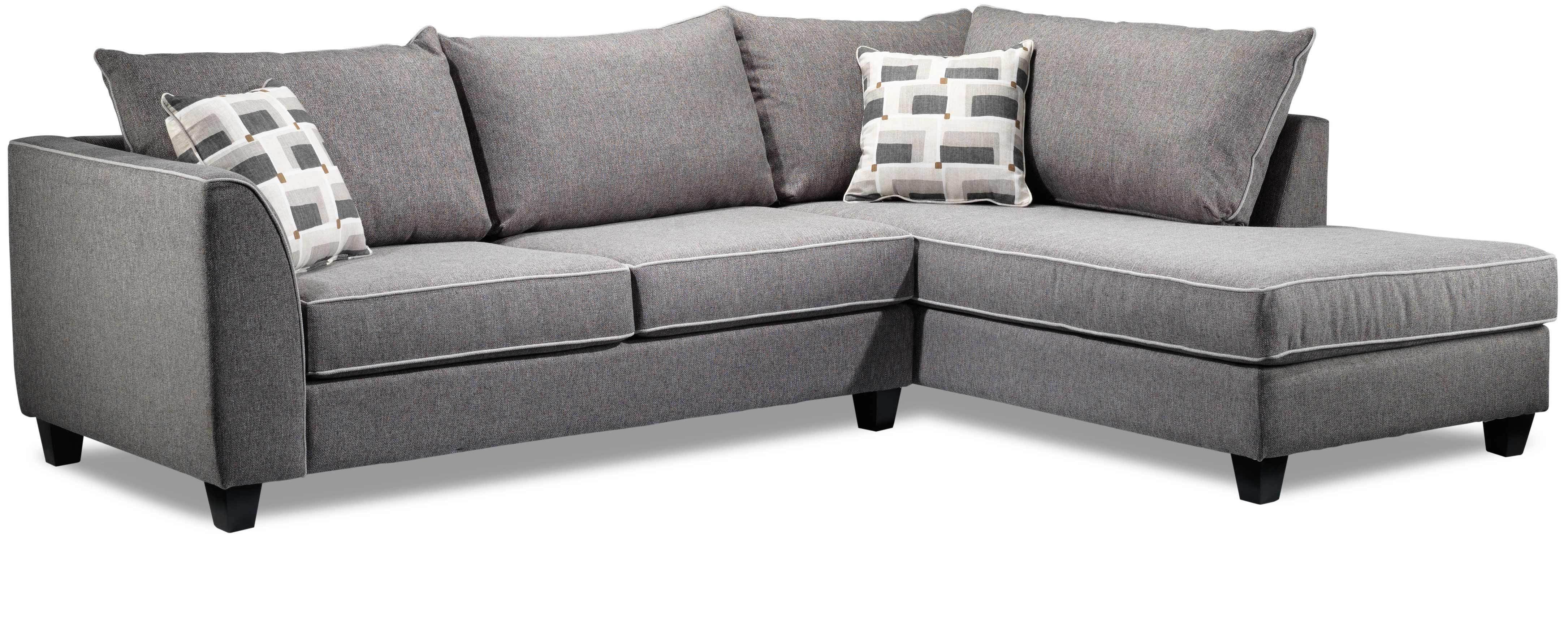 Strange Finnerty 2 Piece Sectional With Right Facing Chaise Silver Andrewgaddart Wooden Chair Designs For Living Room Andrewgaddartcom