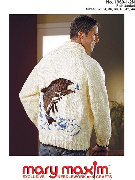 Knit this jacket using Mary Maxim bulky weight yarn.