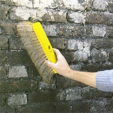 Brossage du mur enduit Pinterest - nettoyer un crepis exterieur